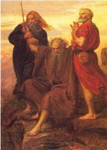 Aaron and Hur holding up Moses' hands (Exodus 17)